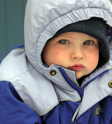 Use multiple layers to keep toddlers warm
