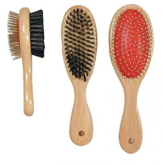 Standard brushes have plastic or metal bristles.