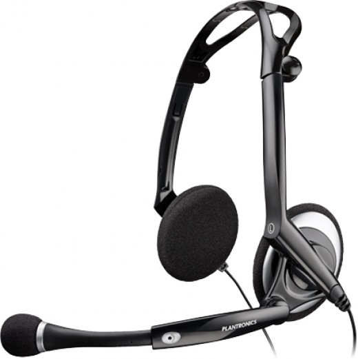 This is the model of Plantronics Headset I have been using for more than a year now... it's USB and it is wired