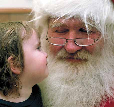 Santa with Child. Photographer: Jacob Windham