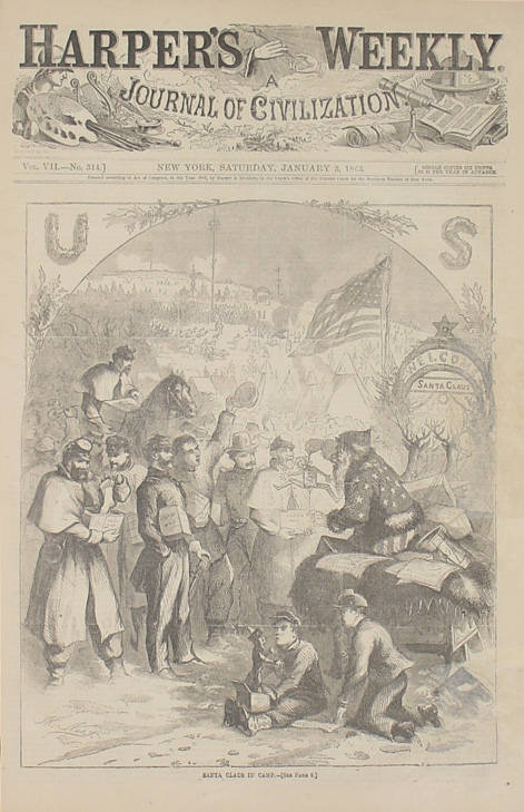 Thomas Nast's first published cartoon of Santa appeared in Harper's Weekly in 1863.