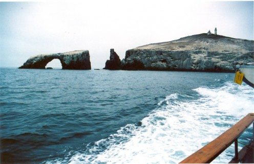 Approaching East Anacapa Island, Channel Islands National Park, California.