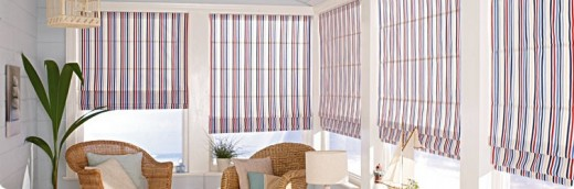These stunning blinds work great in this outdoor setting.