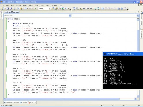 Output of the sample code.