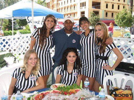 Paul Gage with my Miller Lite Promotional Models