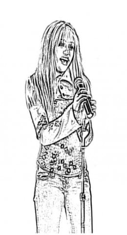 Miley Cyrus Hannah Montana Coloring Pages Free Colouring Pictures to Print