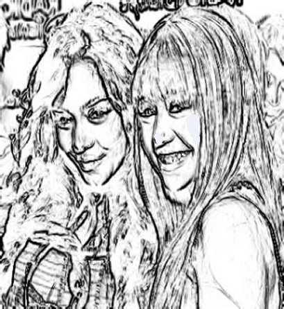 Miley Cyrus - Vanessa Hudgens - Coloring Pages Free Colouring Pictures to Print