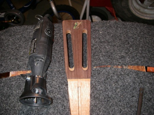 Headstock cut out for abalone.