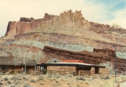 The Visitor Center at Capitol Reef National Park located along Route 24.