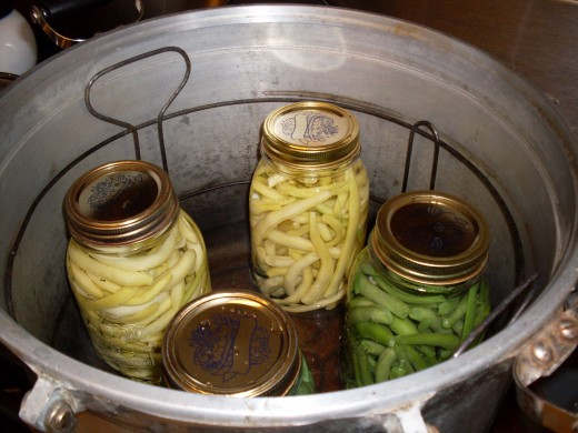 Place jars in rack in your gently heating pressure canner.
