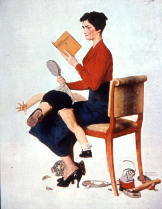 Norman Rockwell (1894 – 1978) did 322 illustrations for The Saturday Evening Post magazine covers over forty years. This one of a mother spanking her child appeared on the November 25th edition cover way back in 1933.