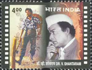 Indian postal stamp released by Indian government, in honour of V.Shantharam
