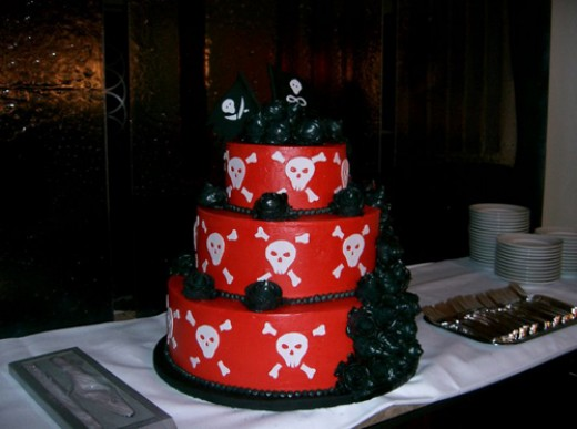 skull and crossbones cake