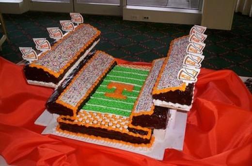 tennesse stadium cake