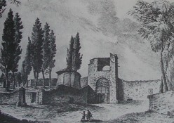 Early engraving showing the Porte a Pinti