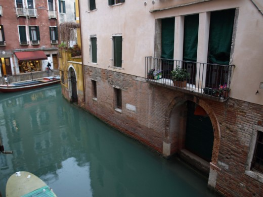 View from our hotel room, Venice