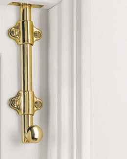 A flush bolt should only be placed on doors not frequently used.
