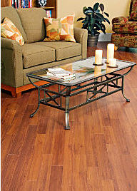 "Laminate Floor, while not technically ""wood"" can simulate the look of hardwood without the cost associated with this type of flooring.  Laminate is the ultimate Cheap Wood Flooring option."