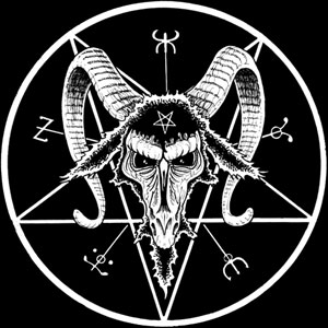 Baphomet (symbol often used for Satanism)