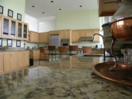 Granite counter tops are beautiful, but they can be pricey, and must be installed by a professional. If you must have them, be sure to include installation costs into your budget.