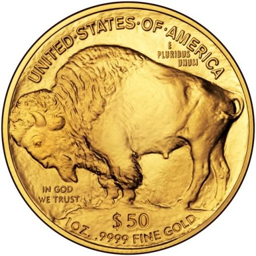 American Gold Buffalo Coin Reverse