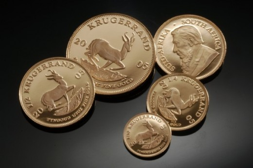 South African Gold Krugerrands - various denominations