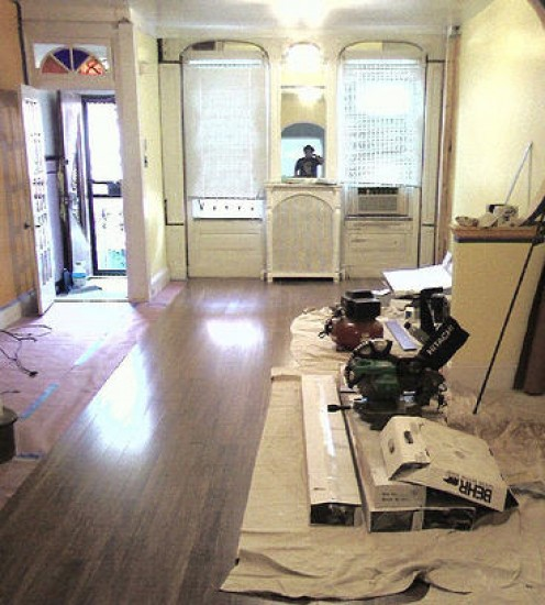 Once you decide on what type of hardwood floors are right for you, you hard part begins....installing the floors...