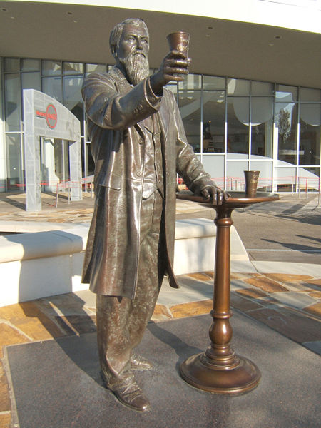 John Stith Pemberton, the pharmacist who invented Coca-Cola. Located at World of Coca-Cola in Atlanta.