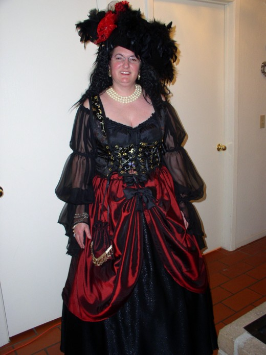 I love the pirate costumes I made. One is a woman...
