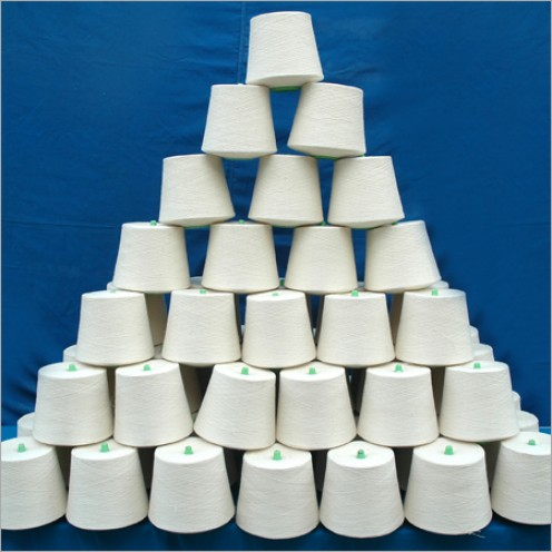 Yarn on Cones Kept for Packing.Each cone may weigh up to 1.5 Kg with a length of 1,61,280 yards or more.