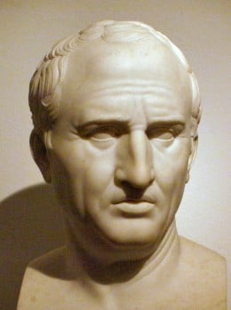 Cicero was an outspoken proponent of the idea of natural law.