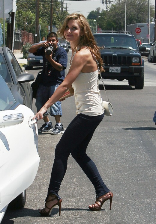 Audrina Patridge in tight jeans and high heels