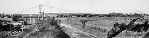 Suspension Bridge at Niagara Falls in 1886