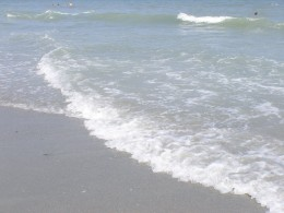 For me, a picture of the waves is a nice way to remember how calm I felt while on a beach vacation.