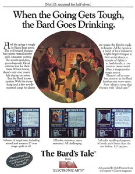 Original Ad for The Bard's Tale