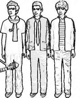 jonas brothers printable coloring pages - photo#28