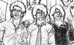 Jonas Brothers Camp Rock Kids Coloring Pages with Free Colouring Pictures to Print