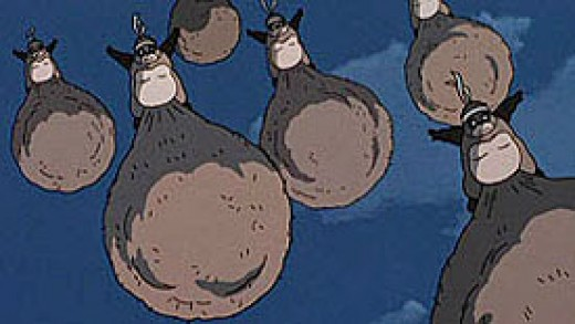 Walt Disney Home Entertainment Presents A Studio Ghibli Film. POM POKO, a tale of Nyctereutes procyonoides (Raccoon Dog essentially) testicals.