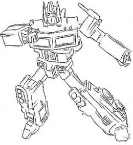 the gallery for transformers optimus prime coloring page