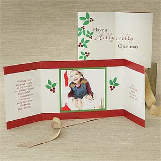 Example of a gatefold card.