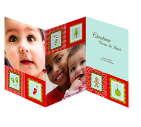 Tri-fold cards have room for more than one photo.