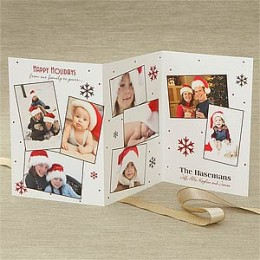 You can add a lot of different photos to this tri-fold card.