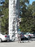 Practice climbing a rock, before going to El Capitan.