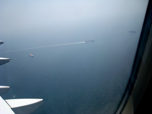 A ship in Bay of Bengal