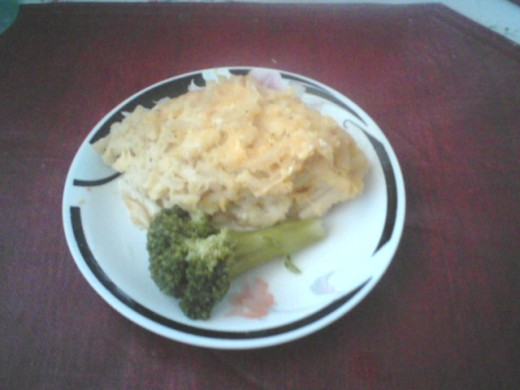 Tasty, delicious macaroni and cheese, homemade.