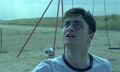 Daniel Radcliffe in an opening scene from Harry Potter and the Order of the Phoenix movie