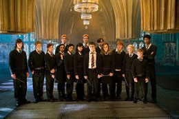 Promotional picture of Dumbledore's army for the Harry Potter and the Order of the Phoenix movie