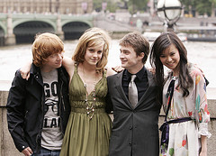 Rupert Grint, Emma Watson, Daniel Radcliffe, and Katie Leung - Cast from Harry Potter and the Order of the Phoenix movie