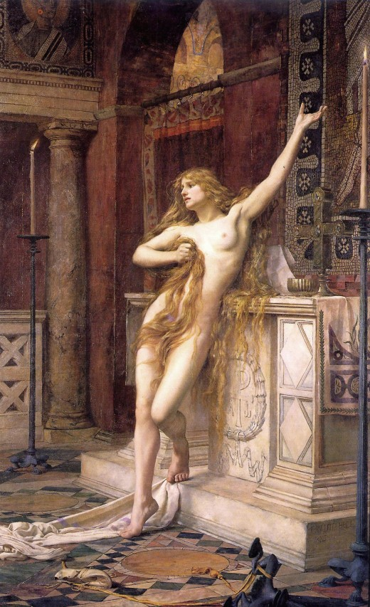 """Hypatia"" by Charles William Mitchell"