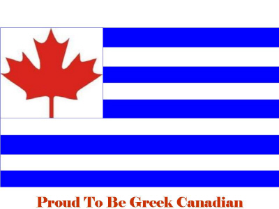 Greek Canadian and Proud!    Greek Canadian Products can be found at: http://www.cafepress.ca/CountryFlags/7834916